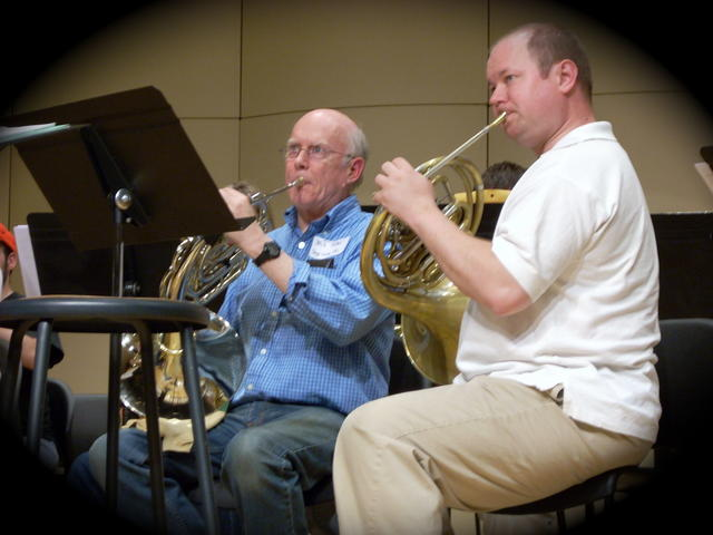 Bill Ostler (left) - horn club founder, Steve Burian (DMA candidate)